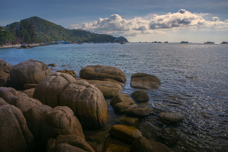 beautiful sea scape of mae hadd in koh tao island most popular traveling destination in southern of thailand