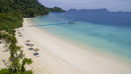 beautiful white sea beach of nyang oo phee island andaman sea border of thailand and myanmar