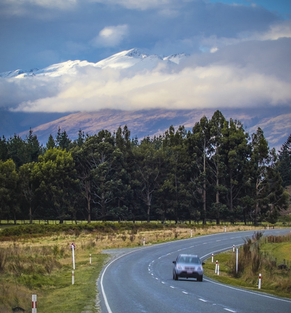 view point of route no.6 between lake te anau to queenstown new zealand