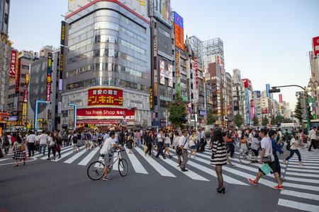 SHINJUKU TOKYO JAPAN - SEPTEMBER 11 : shinjuku important landmark and shopping area in heart of tokyo on september 11, 2015 in Tokyo Japan