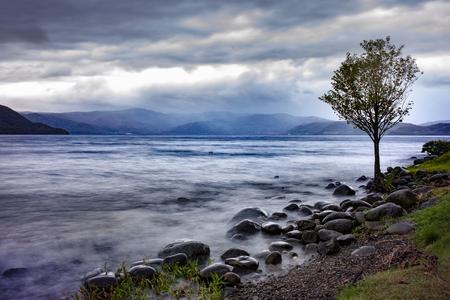 beautiful scenic of lake toya hokkaido japan Stockfoto