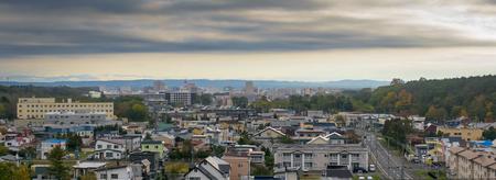 panorama view of sapporo township hokkaido japan