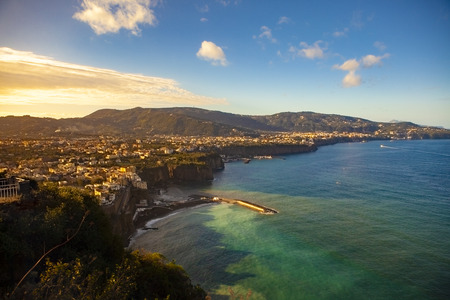sorronto town coastal one of most popular traveling destination in  south italy Stock Photo