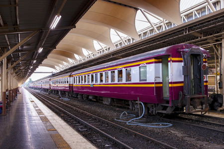 thailand trains in hua lumphong station bangkok Stock Photo - 113415495