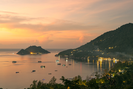 koh tao island and nang yuan harbor surathani one of most popular traveling destination in southern of thailand