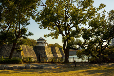 outside of osaka castle in japan one of most popular traveling destination