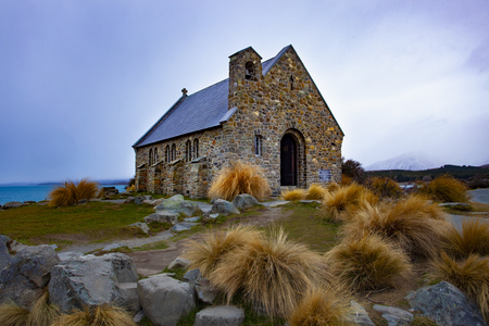 church of good shepherd  important landmark and traveling destination near lake tekapo south island new zealand