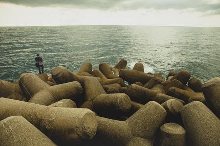 rock coast mediterranean sea amalfi town south italy Reklamní fotografie - 115189321