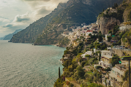 amalfi - positano coast mediterranean sea soutn italy one of most popular traveling destination