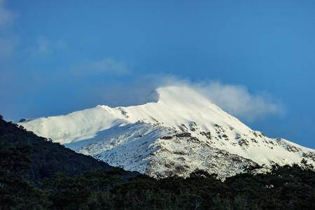 snow mountain in aspiring national park westcoast southland new zelaand