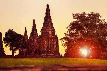 wat chai wattanaram ayutthaya  thailand 免版税图像