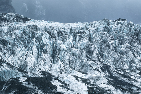 frozen ice in franz josef glacier new zealand