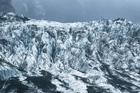 gefrorenes eis im franz josef gletscher neuseeland
