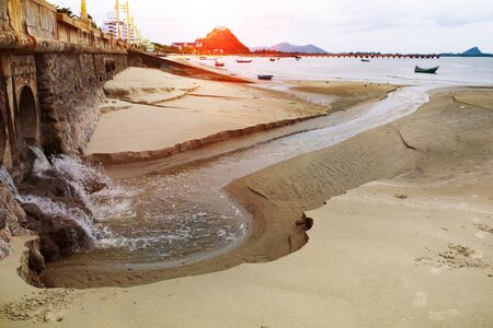urban waster  drain to sea coast, environment problem