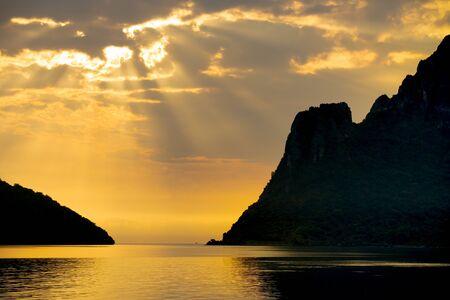 scene of beautiful sun light over seascape