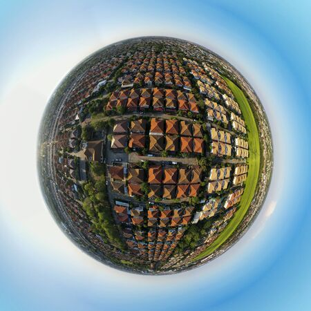 sphere photography of home village in bangkok thailand capital city