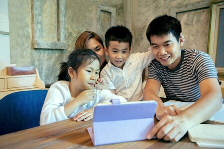 asian family quarantine social media connect to other families