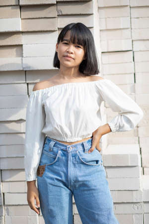 street fashion asian  teenager Stock fotó