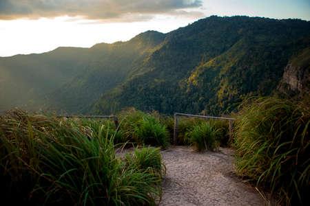 mountain top and beautiful sun light background 版權商用圖片