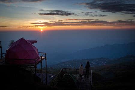 beautiful sun rise of phu tubberk most popular traveling destination in thailand