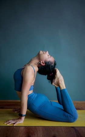 asian woman doing yoga pose Stock fotó