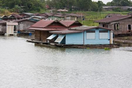 livelihood: livelihood of people on houseboat Stock Photo