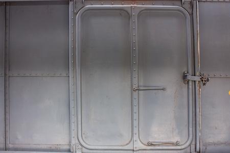 bogie: metal gate of train bogie Stock Photo