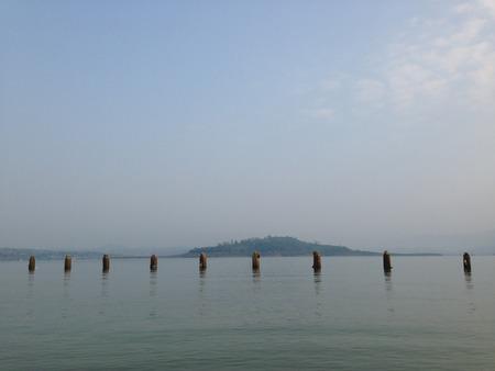 a dam in Kanchanaburi 스톡 콘텐츠