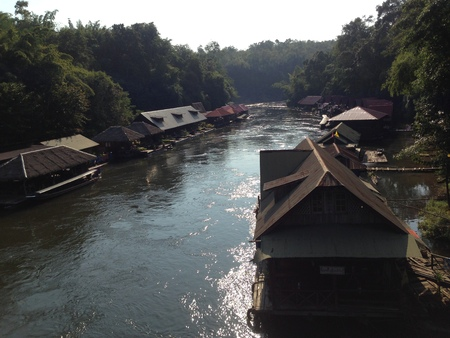 floating houses along the river