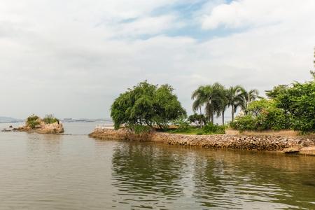 restuarant: Small park in a restuarant Thailand