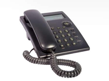 telephone cable: Telephone isolated on white background Stock Photo