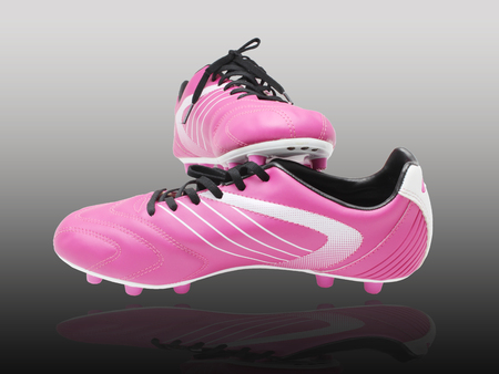 Football boots on the background