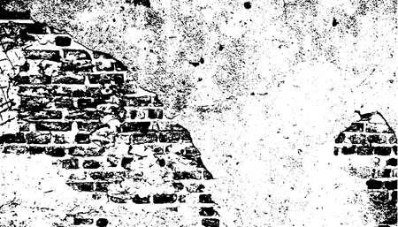 Grunge Vector Texture. Black and White Urban Pattern. 矢量图像