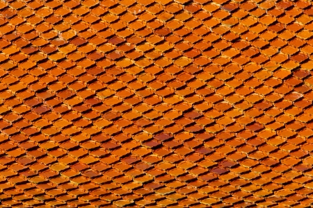 Close up view of a roof pattern background photo
