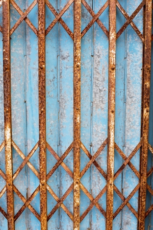 An Old rusty metal door photo