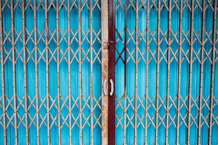 Vintage sliding metal door background photo