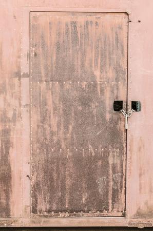 rusty: rusty metal door Stock Photo