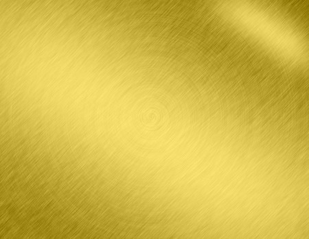 Gold metal brushed background or texture of brushed steel plate with reflections Iron plate and shiny