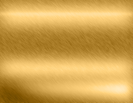 alloy: Gold metal brushed background or texture of brushed steel plate with reflections Iron plate and shiny