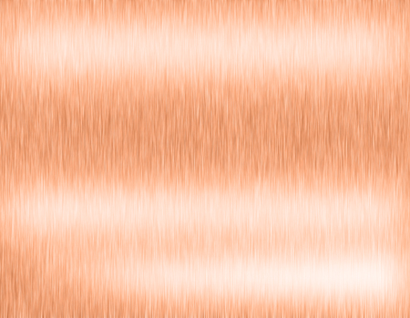 Copper metal brushed background, it steel plate with reflections Iron plate and shiny Stock Photo