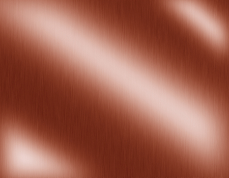 revolve: Copper metal brushed background, it steel plate with reflections Iron plate and shiny Stock Photo