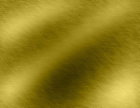 sheet metal: Gold metal brushed background or texture of brushed steel plate with reflections Iron plate and shiny