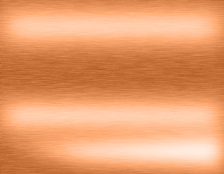 Copper bronze metal background or texture of brushed steel plate with reflections Iron plate and shiny Stock Photo