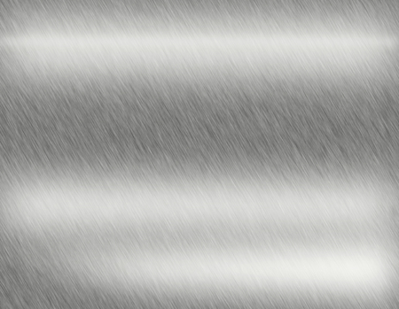 Stainless steel metal brushed background or texture of brushed steel plate with reflections Iron plate and shiny