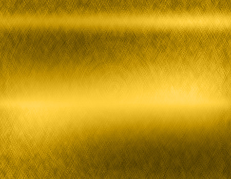 co: Gold metal brushed background or texture of brushed steel plate with reflections Iron plate and shiny