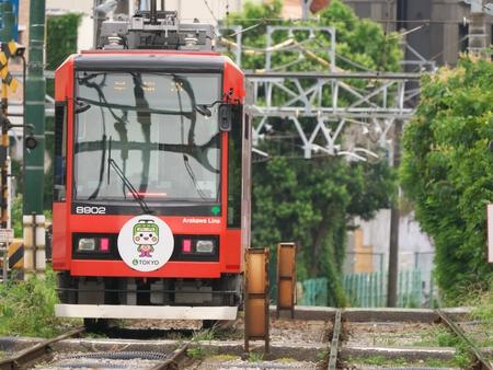 Toei Streetcar (Toden) Arakawa Line near Mukohara station recorded on June 14, 2016