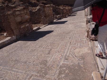 mosaic: Heart-shaped mosaic found at Ephesus Stock Photo