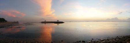 sanur: Morning scenery of Sanur Beach, Bali