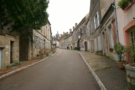 Road to Basilique Sainte-Marie-Madeleine de Vezelay in Vezelay, one of the most beautiful village in France