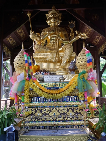 phrom: Hinduism statue or phra phrom in Thailand
